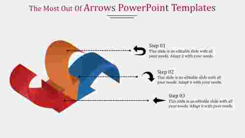 Joined arrows powerpoint templates